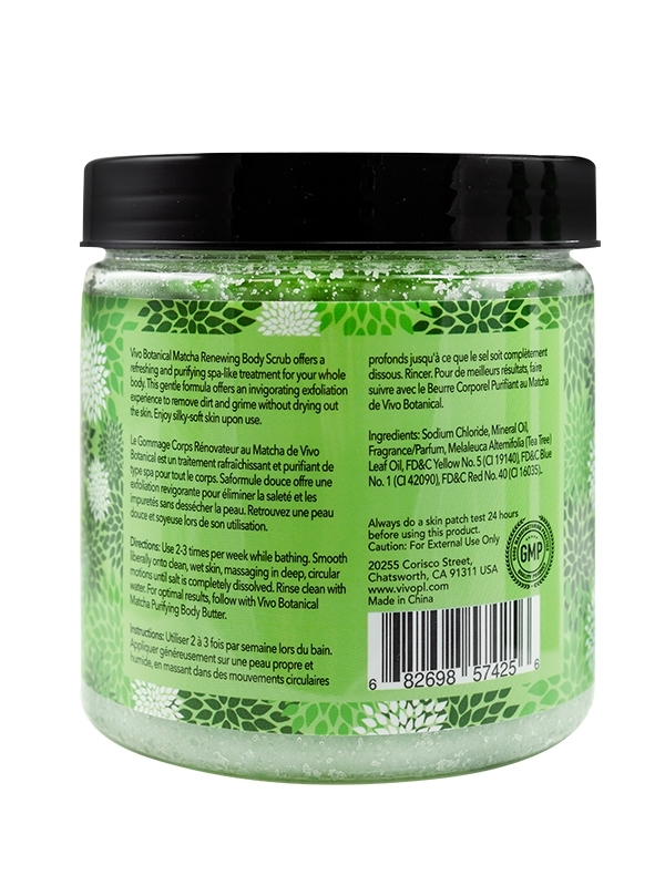 Matcha Renewing Body Scrub Back