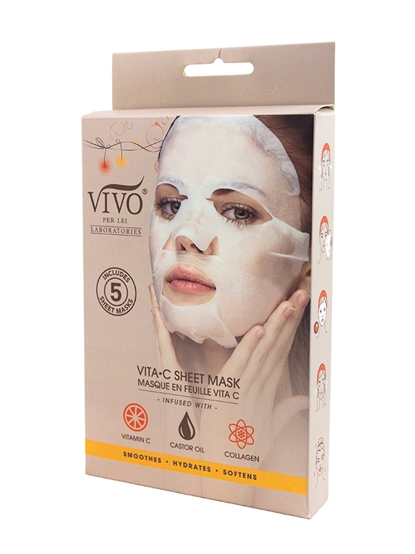 side view of vitamin c mask