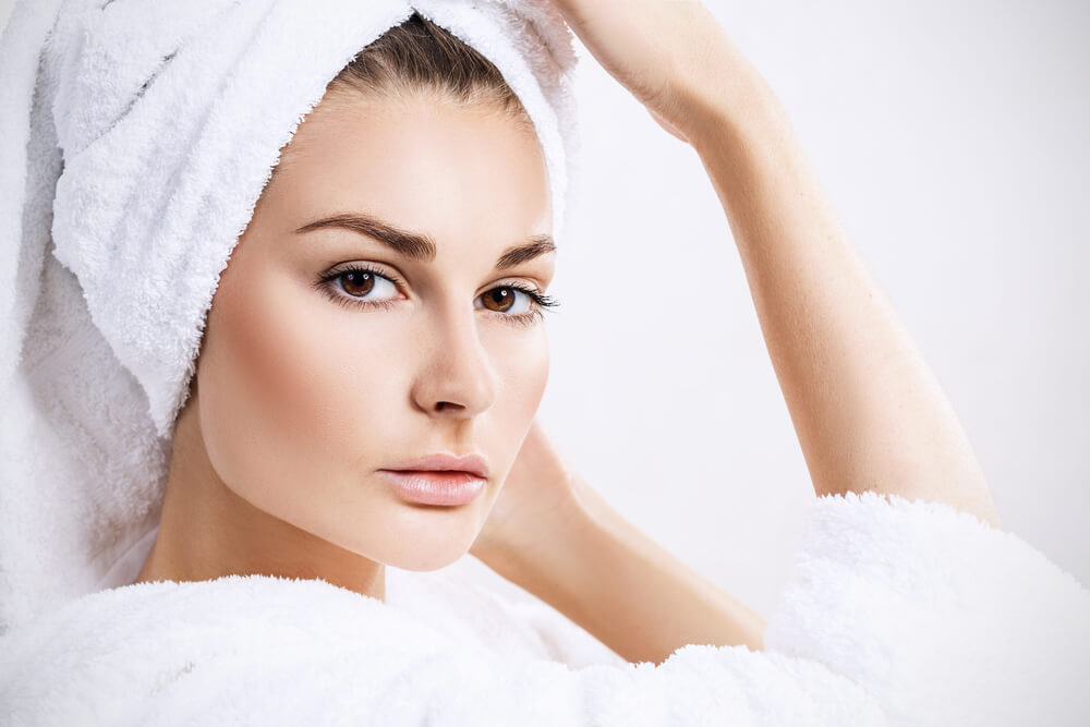 Woman with clean skin