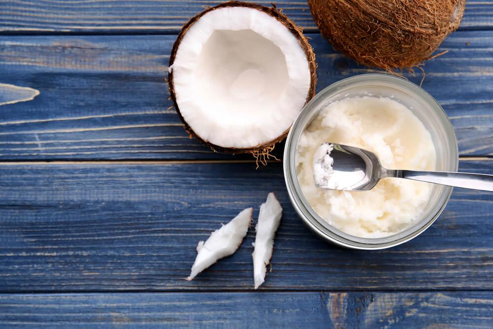 Bowl of coconut oil