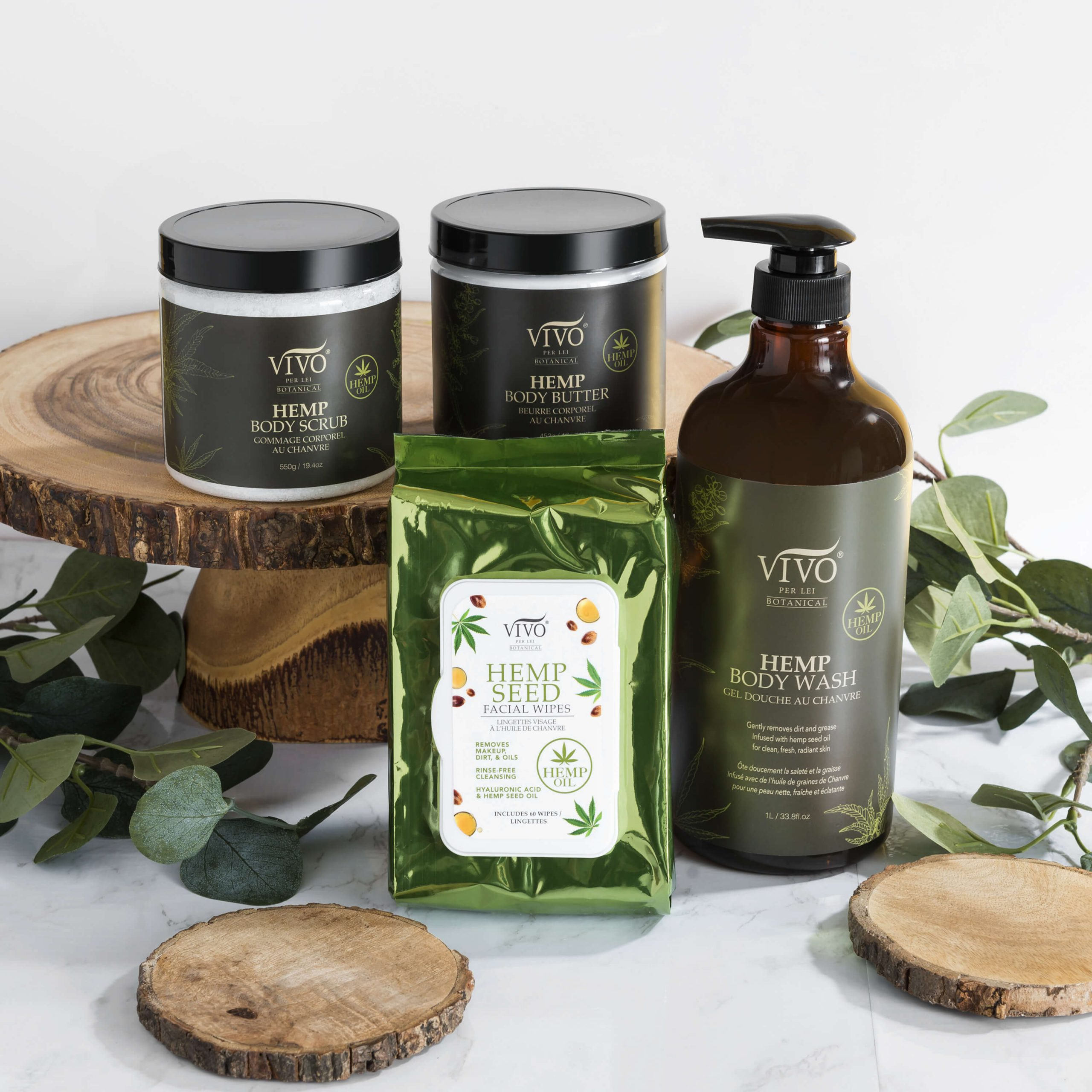 Vivo Body Wash and other hemp products