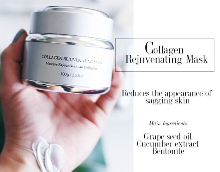 blogger chick talk holding the Collagen rejuvenating mask