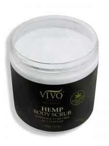 Hemp body scrub open lid