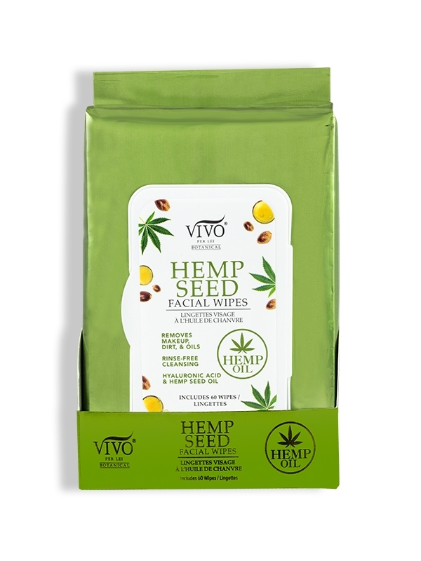 Hemp Seed Facial Wipes