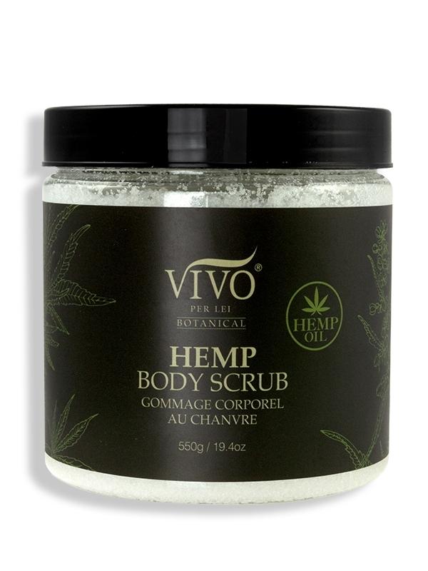Hemp body scrub