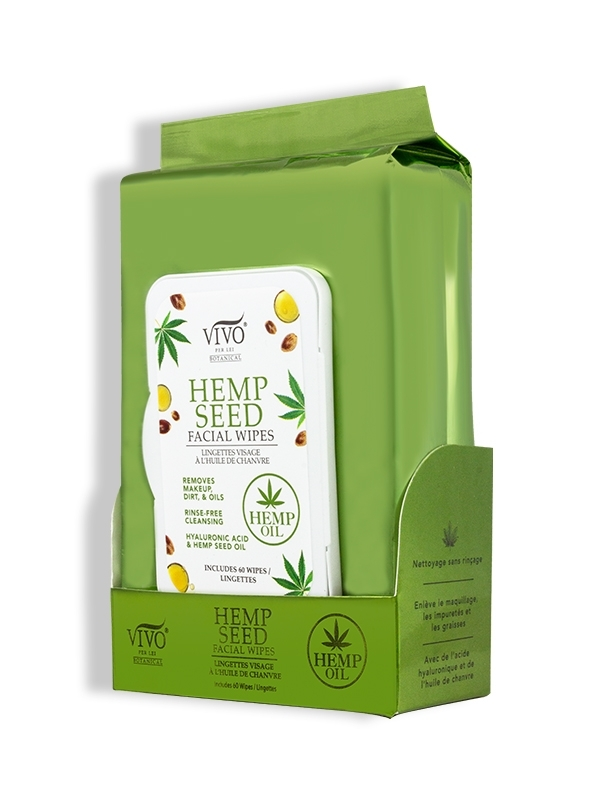 Hemp Seed Facial Wipes side